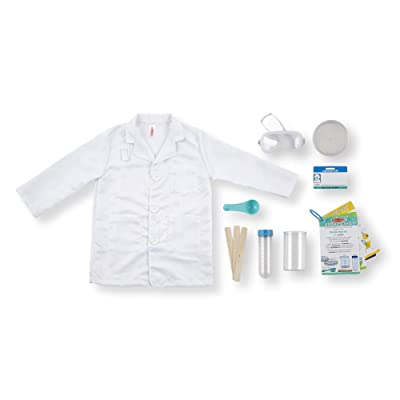 Melissa & Doug Scientist Role Play Costume Set,: Toys & Games