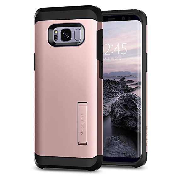 the best attitude 1c1c8 adb7c Spigen Tough Armor Designed for Samsung Galaxy S8 Case (2017) - Rose Gold