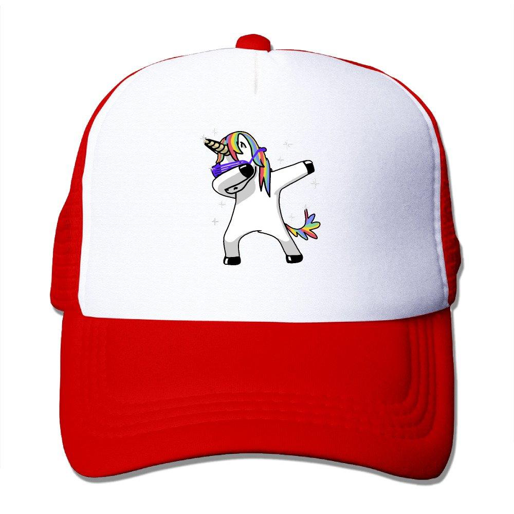 Unicorns Dabbing Outdoor Mesh Hat Sports Cap Hat Adjustable Black