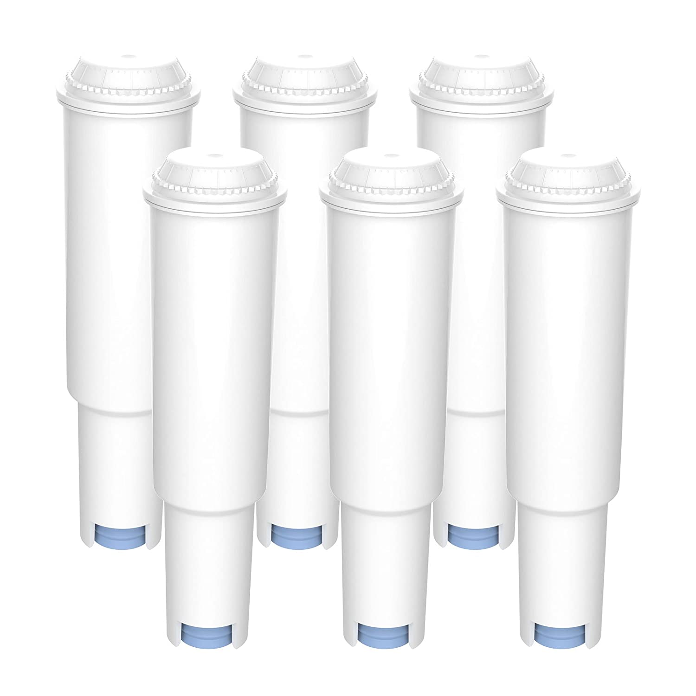 6 x Filterpatrone AquaCrest kompatibel Jura Claris white AQK-04