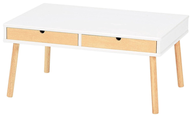 koeki センターテーブル EMU 引き出し付き ホワイト