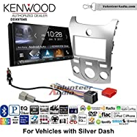 Volunteer Audio Kenwood DDX9704S Double Din Radio Install Kit with Apple Carplay Android Auto Fits 2011-2013 Kia Forte (Silver)