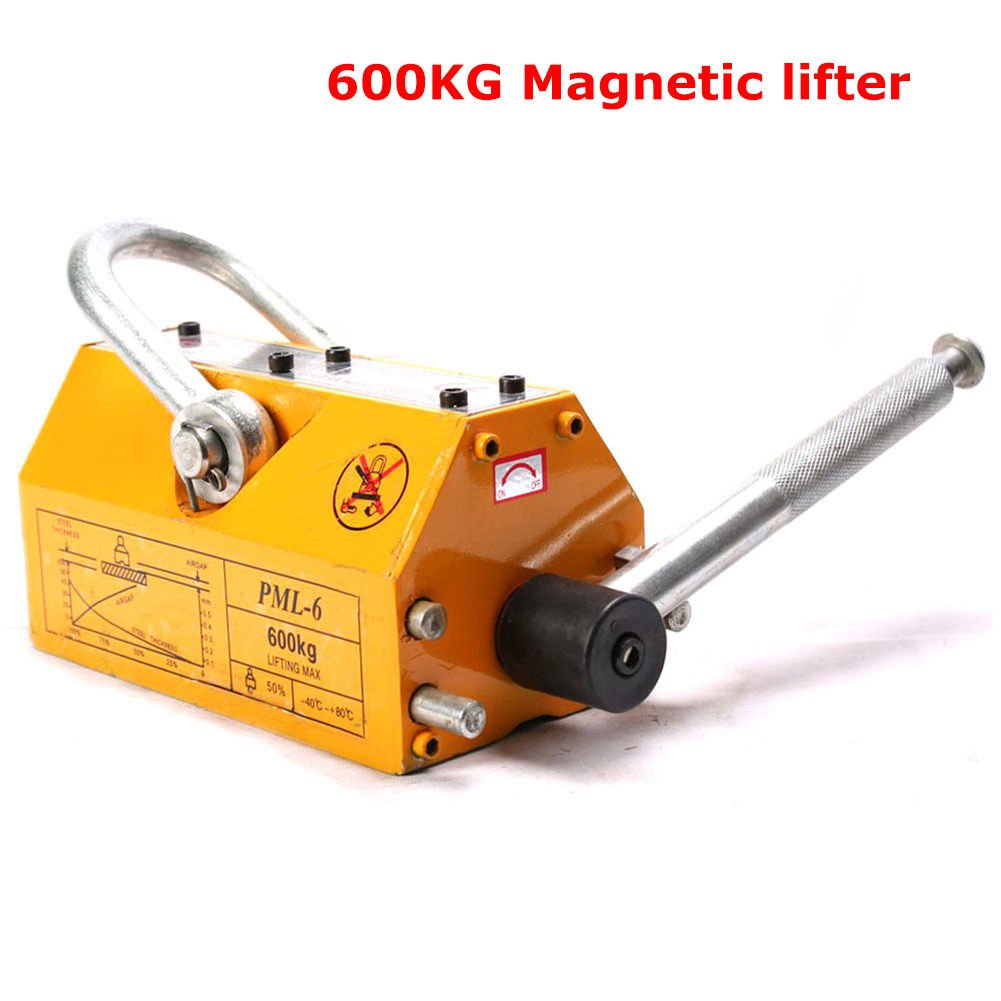 Heavy Duty 1320lbs 600kg Steel Lifting Magnet Magnetic Lifter Hoist Crane