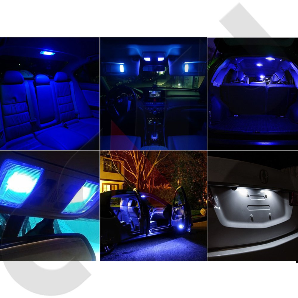 OCPTY 10 Pack Blue Accessories Replacement Package Kit Replacement fit for 2006-2010 Dodge Charger LED Bulb LED Interior Lights 993279-5209-1659121