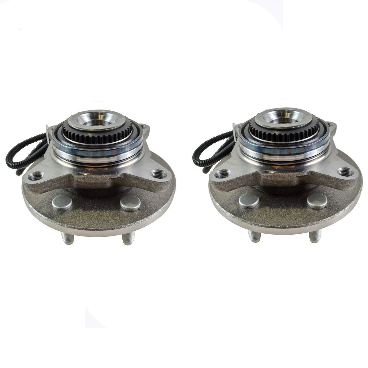 Detroit Axle - Both (2) Front Wheel Hub and Bearing Assembly Driver and Passenger Side - 4x4 w/ABS 6 Stud; From 11/29/04 - 2005-2008 Ford F-150 4x4 - [2006-2008 Lincoln Mark LT]