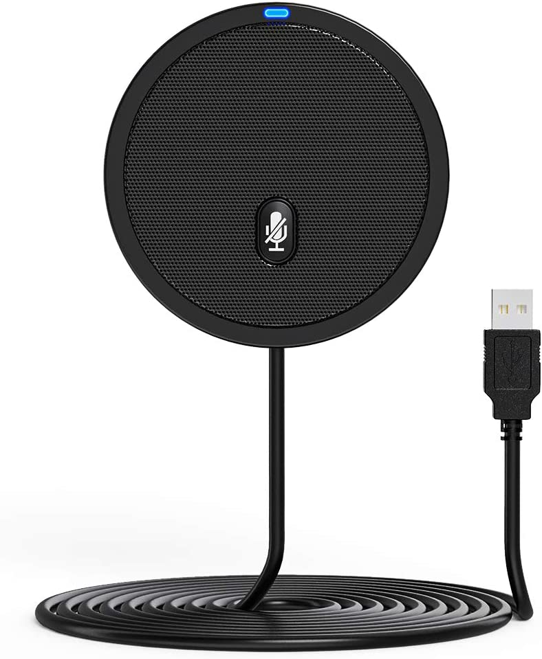 Ankuka Conference USB Microphone Condenser PC Mic for Video Conference,