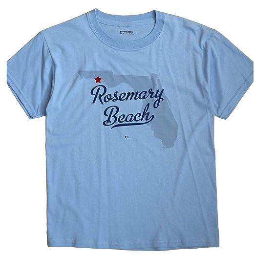 Rosemary Beach Florida Map.Amazon Com Greatcitees Rosemary Beach Florida Fl Map Unisex
