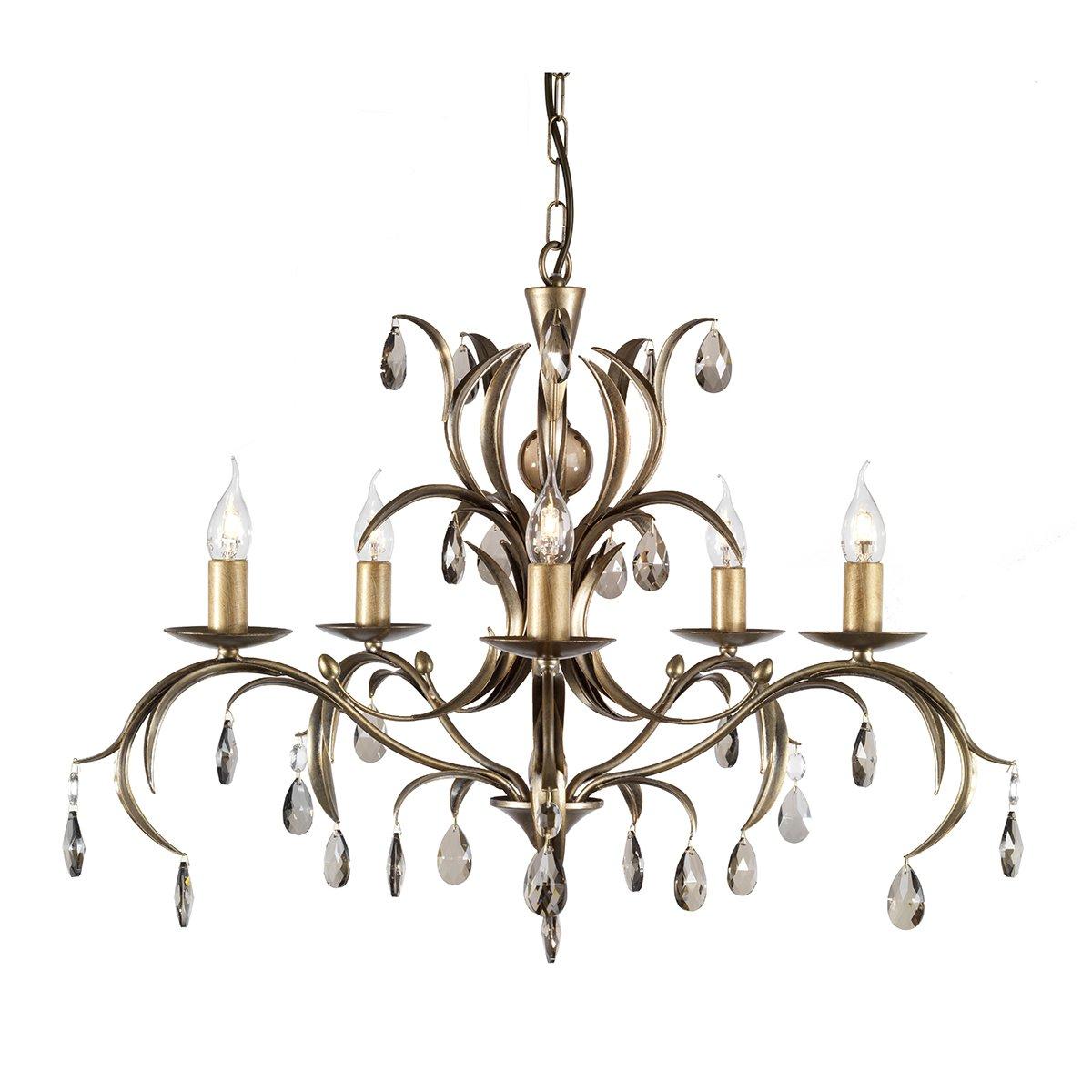 Elstead Lighting Wandlampe Lily 5 Licht Kronleuchter Deckenleuchte Antik Bronze ANT BRZ