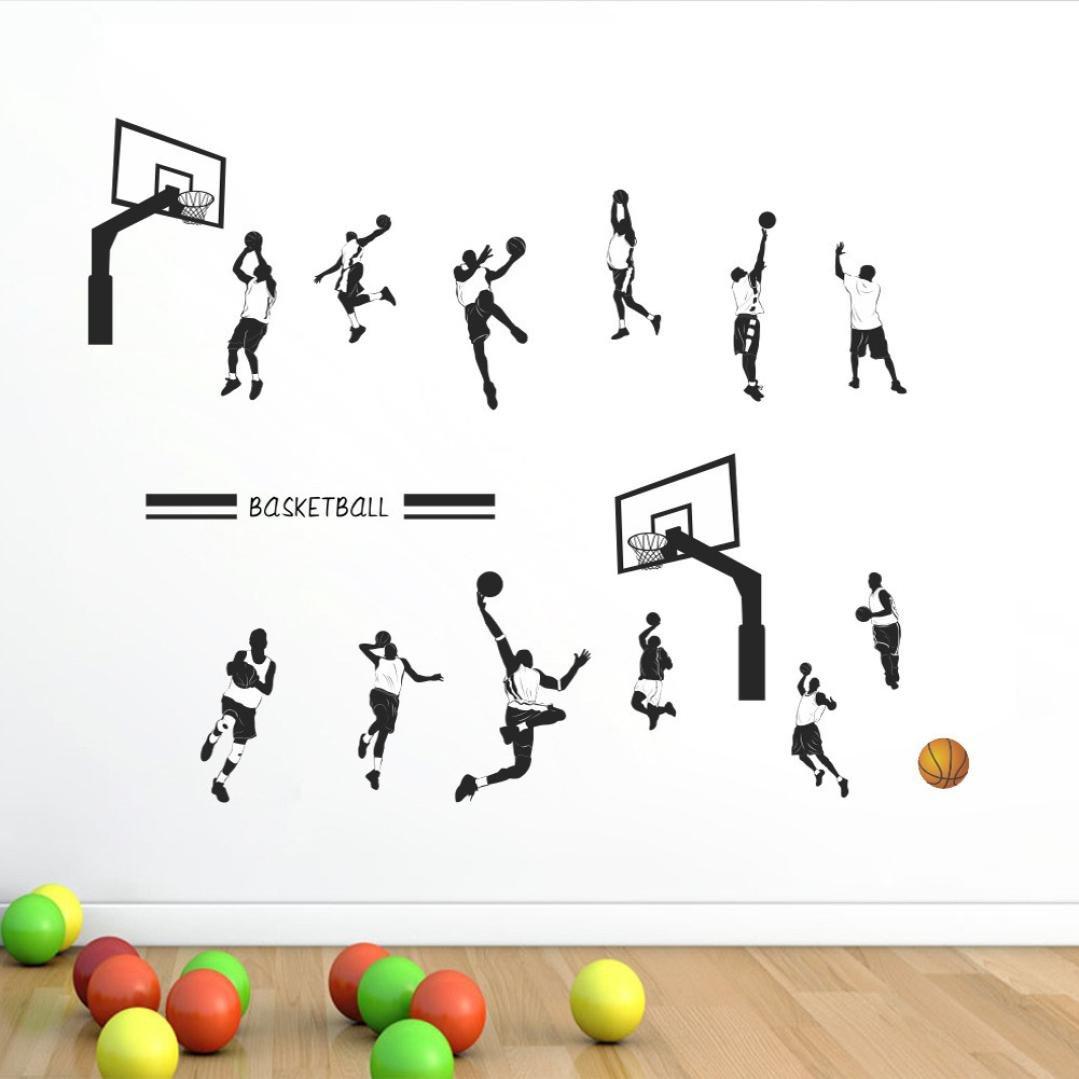 ❤️Pegatinas de pared❤️Dragon868 Jugar baloncesto slam dunk deporte pegatina de pared extraíble