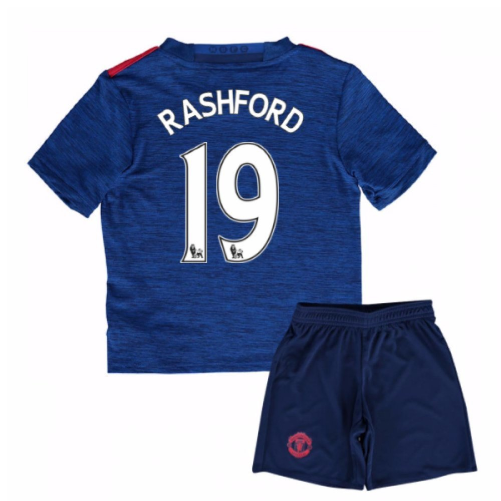 UKSoccershop 2016-17 Man United Away Mini Kit (Marcus Rashford 19)