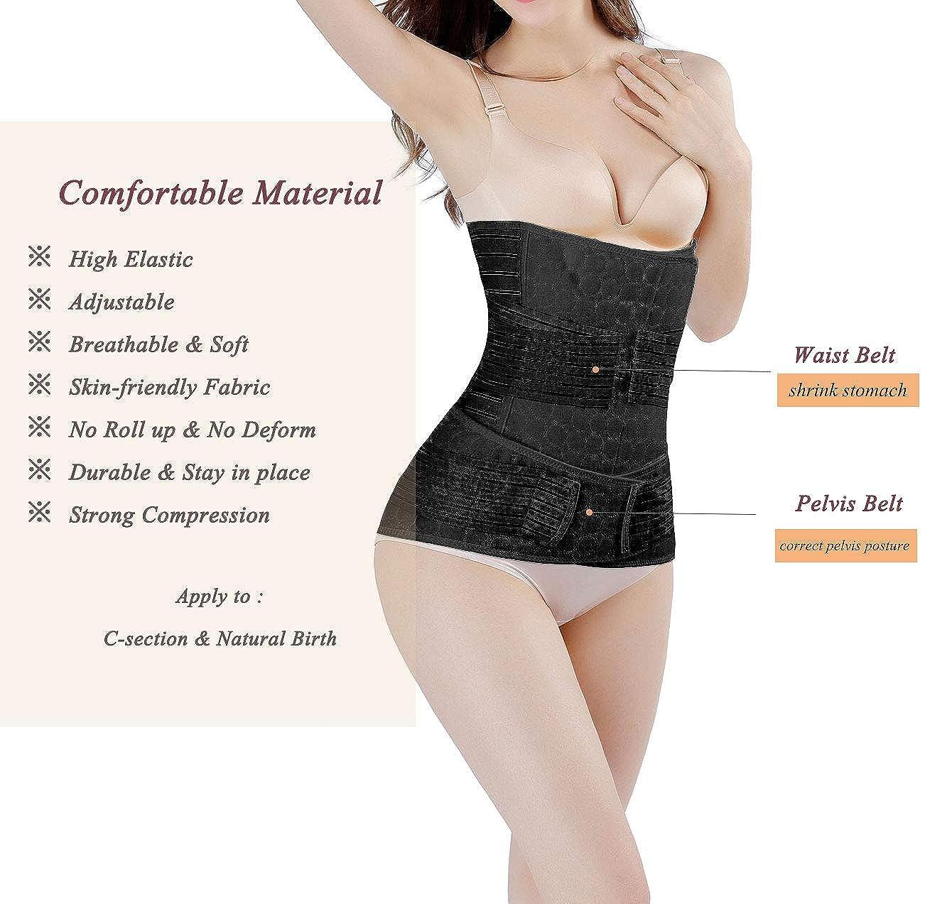 DICOOL Postpartum Support Recovery Girdle Corset Belly Waist Pelvis Belt Shapewear Belly Wrap