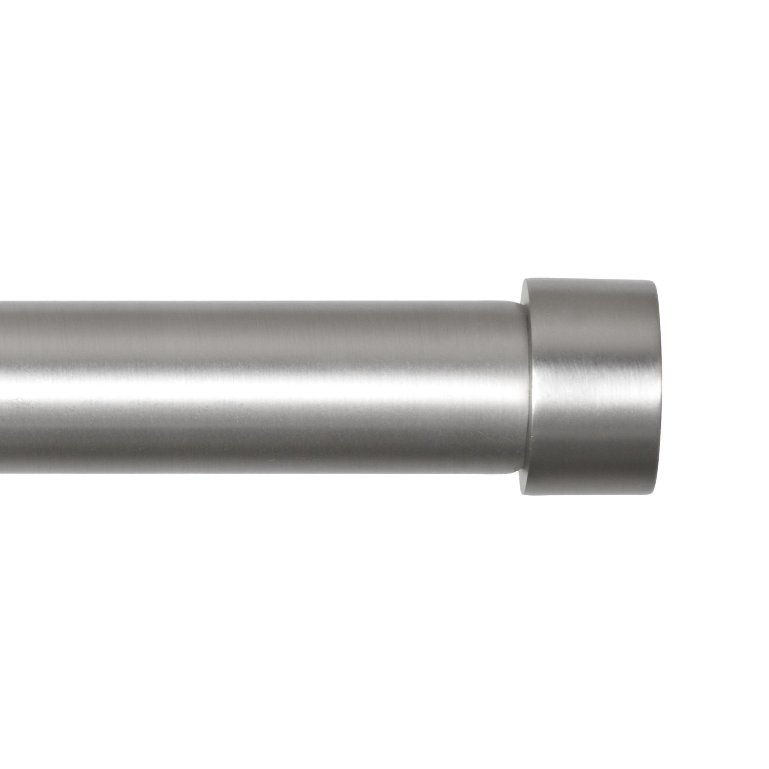 Umbra Cappa Brushed Nickel Curtain Rod Modern Extra Long Extends From 72 To 144 Inches And Includes Matching Finials Brackets Hardware 125