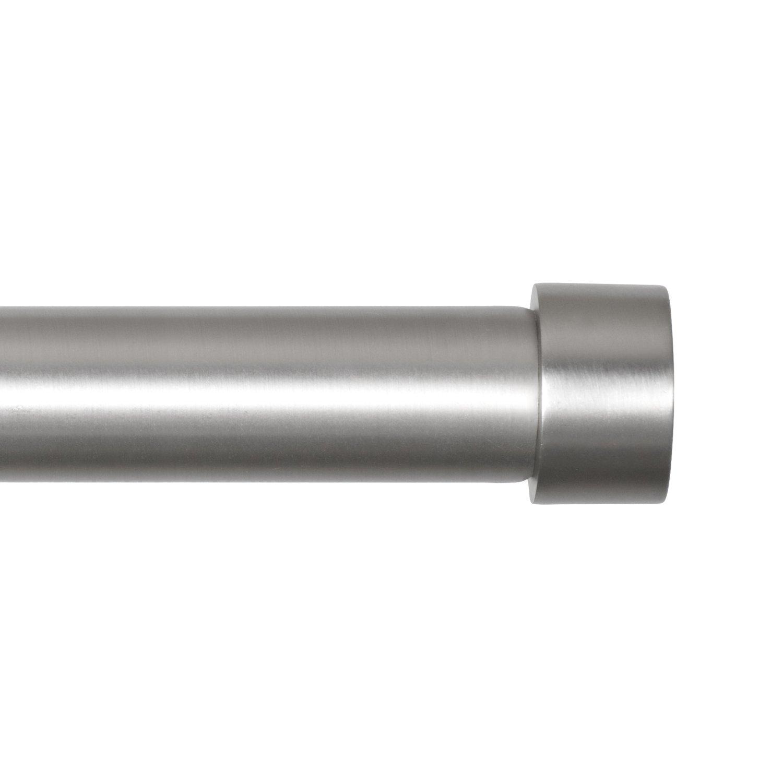 Umbra Cappa Brushed Nickel Curtain Rod Modern Extra Long