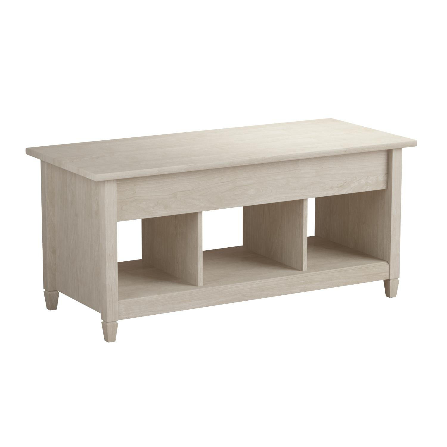 Sauder 419096 Coffee Table, Furniture Edge Water Lift-Top, Chalk Chestnut