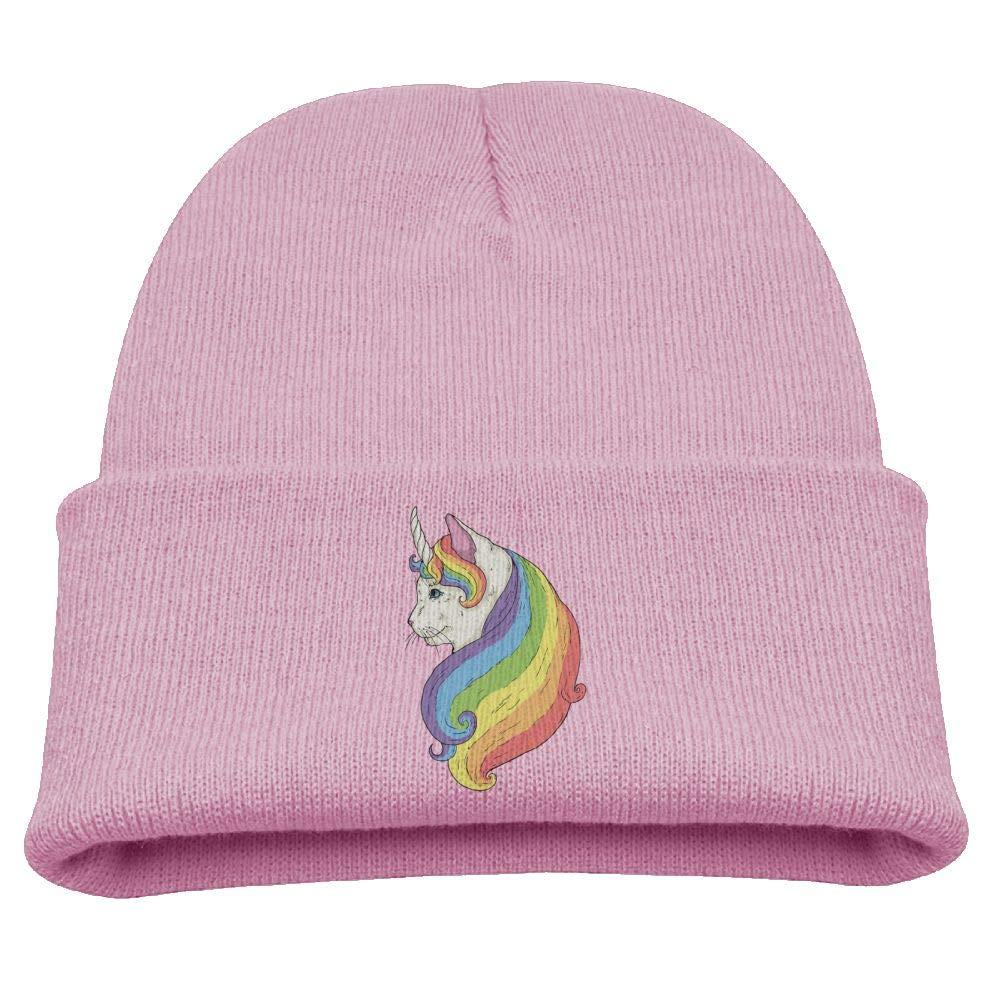 Cat Unicorn Cat Beanie Cap Knit Hat Winter Warm Baby