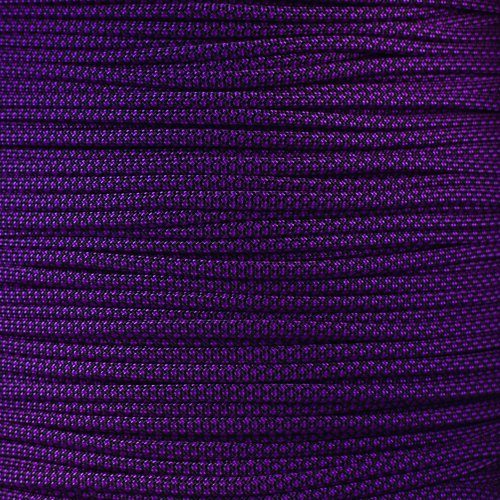 PARACORD PLANET 10 20 25 50 100 Foot Hanks and 250 1000 Foot Spools of Parachute 550 Cord Type III 7 Strand Paracord (Acid Purple Diamond 25 Feet)