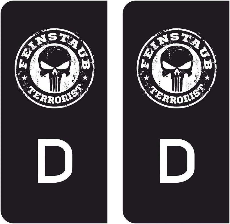 Mg346 2x Aufkleber Nummernschild Deutschland Eu Sticker Diesel Euro Norm E3 E4 E5 E6 Black D Feinstaub V8 Outlaw Tuning Auto