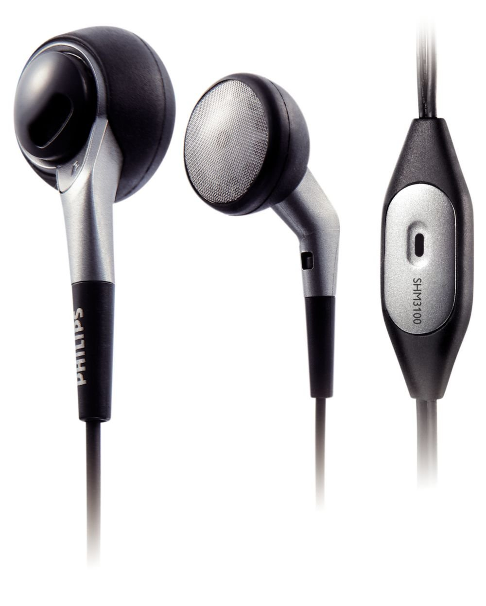 Philips SHM3100U/10 Auriculares para ordenador portá til (negro con plateado)