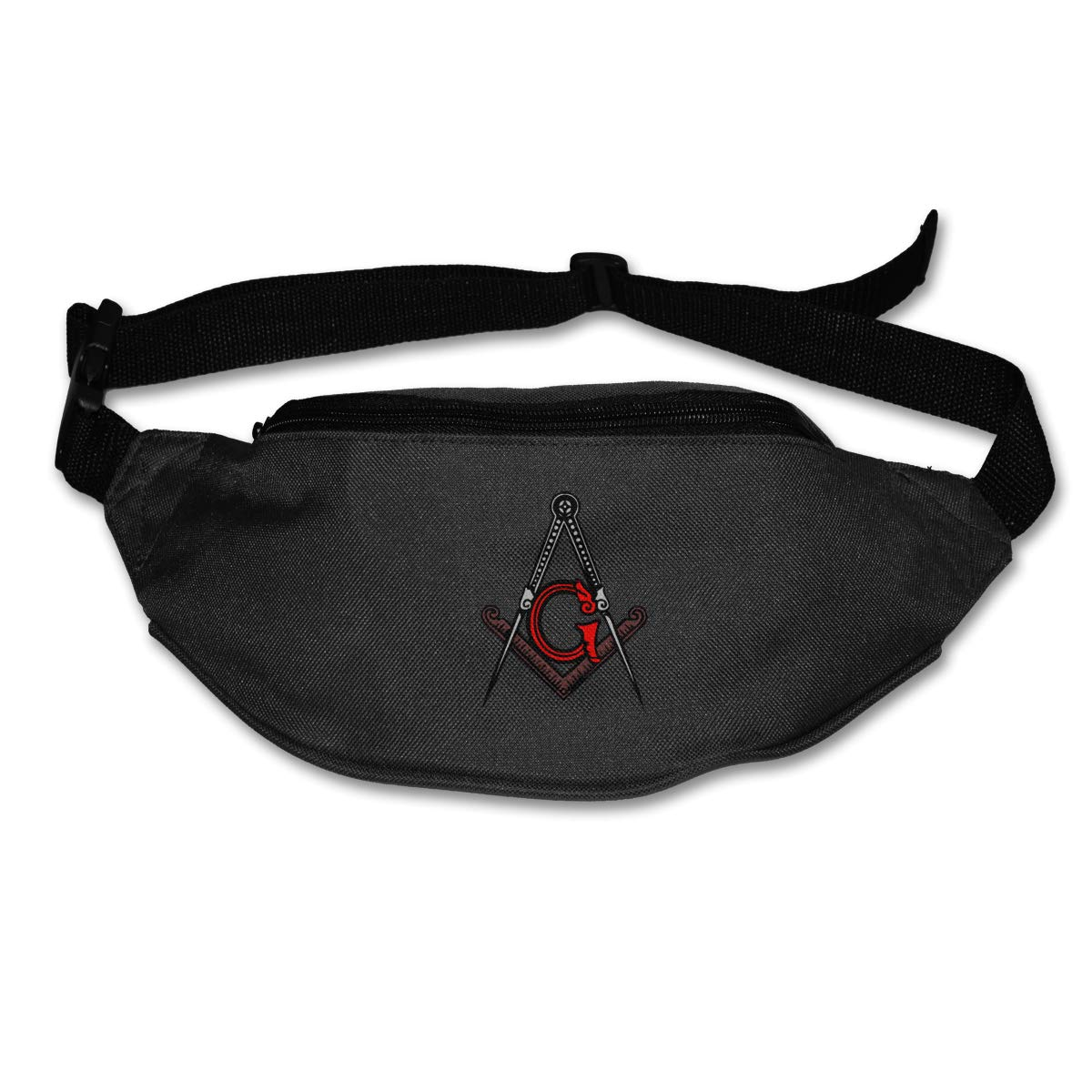 Freemason Square And Compass Red Waist Pack Fanny Pack Adjustable For Hike
