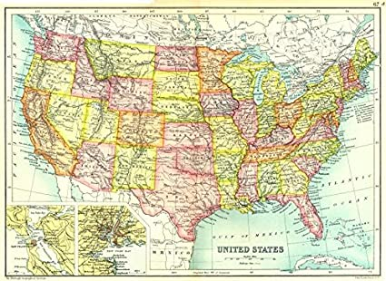 Amazon.com: USA: United States; Inset maps of San Francisco ... on arcadia map, lodi map, chicago map, berkeley map, california map, vacaville map, costa mesa map, los angeles map, bakersfield map, richmond map, redlands map, glendale map, pleasanton map, union city map, sunnyvale map, newark map, yuba city map, sherman oaks map, bloomington map, golden gate state park map,