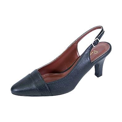 4bf1ebcadd8 Peerage FIC Candy Women s Extra Wide Width Dress Slingback Black 5