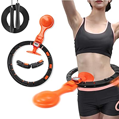 FITMYFAVO Fitness Exercise Weighted Hula Hoop 2.0 Smart Auto Counting LCD Fat Burning Healthy Model Sports Life Detaches Adjustable Size Design Hoola Hoop Lose Weight Fast by Fun Way to Workout: Health & Personal Care