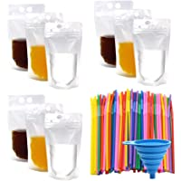 50 stuks smoothie zakken met rietjes - geen lekkage drinken zakjes zakken - opstaan wegwerp drinken container voor…