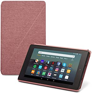 "Fire 7 Tablet (7"" display, 32 GB) - Plum + Amazon Standing Case (Plum)"