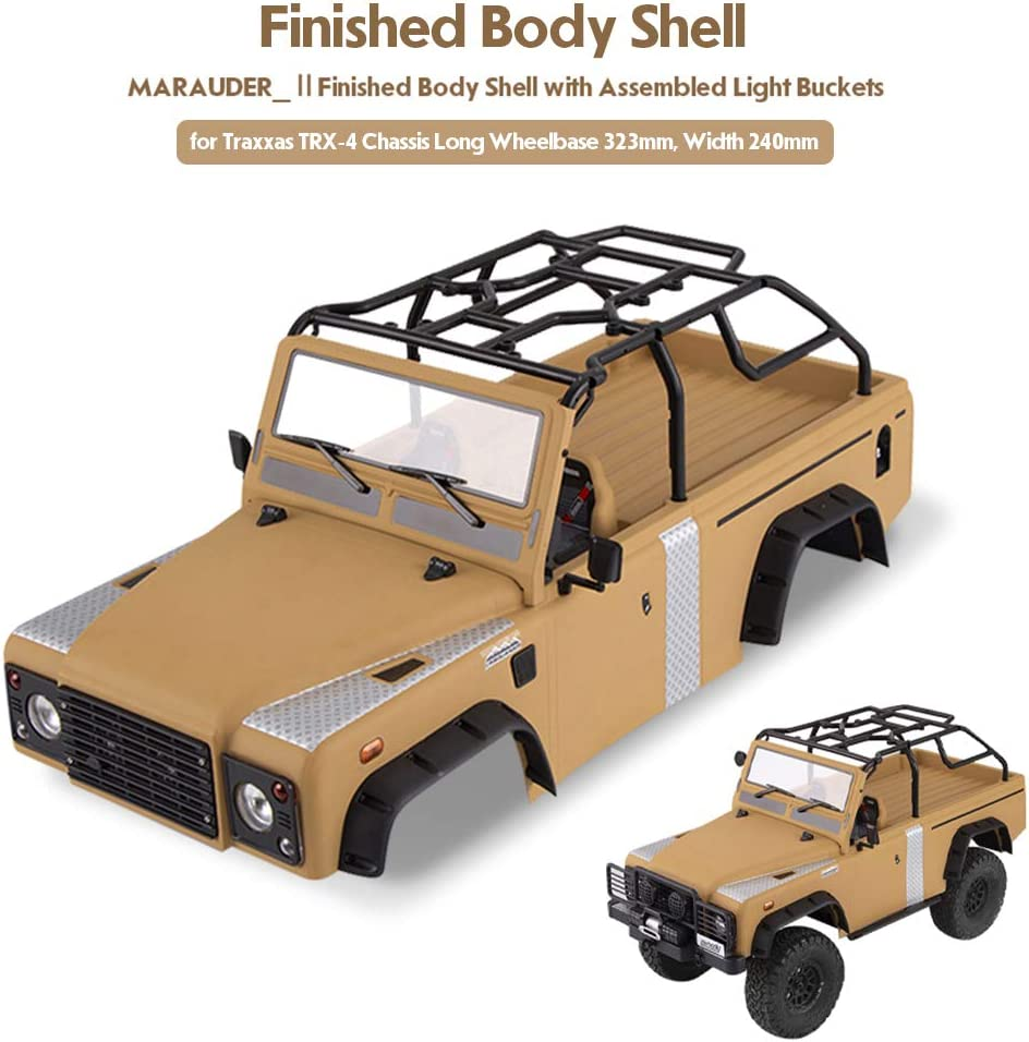 Goolsky Killerbody Marauder_Ⅱ Kit de Cubierta de la Carrocería RC con Cubos de luz para 323 mm Distancia Entre Ejes Traxxas TRX-4 Chasis RC Crawler ...