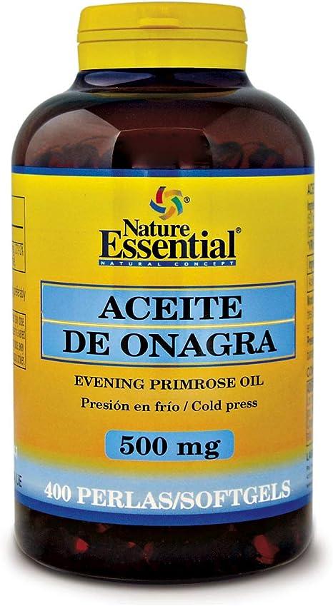 400 perlas Aceite de Onagra 500 mg con 10% en GLA (Ácido Gamma ...
