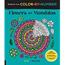Brilliantly Vivid Color-by-Number: Flowers and Mandalas: Guided coloring for creative relaxation--30 original designs + 4 full-color bonus prints--Easy tear-out pages for framing