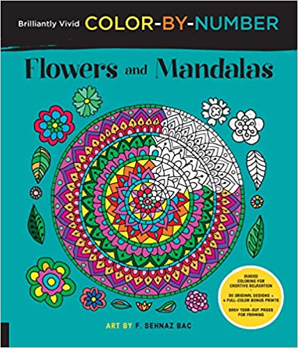 Brilliantly Vivid Color-by-number: Flowers And Mandalas: Guided Coloring For Creative Relaxation--30 Original Designs + 4 Full-color Bonus Prints--easy Tear-out Pages For Framing por F. Sehnaz Bac epub