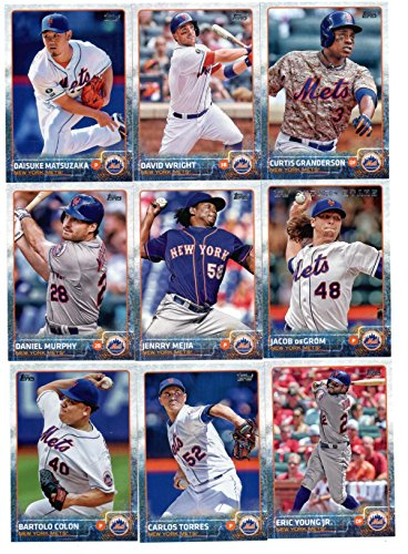 2015 Topps Baseball Cards New York Mets Team Set (Series 1- 15 Cards) Including Curtis Granderson Team Card, David Wright, Jacob deGrom, Daisuke Matsuzaka, Daniel Murphy, Jenrry Mejia, Carlos Torres, - Eric Murphy