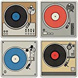 """CoasterStone Absorbent Coasters (Set of 4), Turntables, 4-1/4"""""""