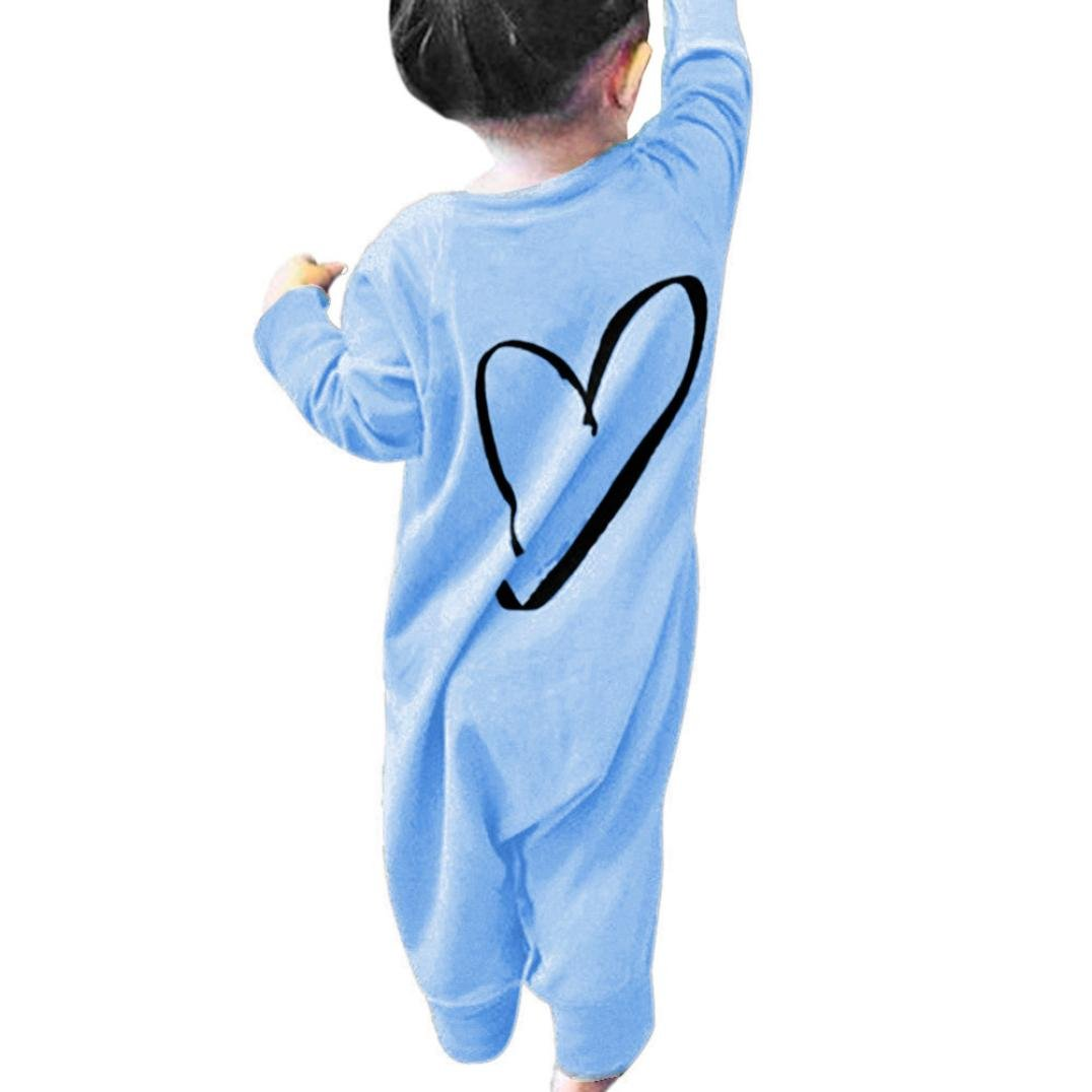SHOBDW Girls Rompers, Newborn Infant Kids Baby Boys Girls Printing Romper Jumpsuit Outfits Clothes SHOBDW-88