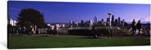 iCanvasART 1 Piece City Viewed from Queen Anne Hill, Space Needle, Seattle, King County, Washington State, USA 2010 No.4 Canvas Print by Panoramic Images, 1.5 by 48 by 16-Inch