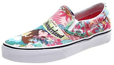 1501ecd49d Vans Classic Slip On Disney Wonderland Pink Shoe (UK6)  Amazon.co.uk ...