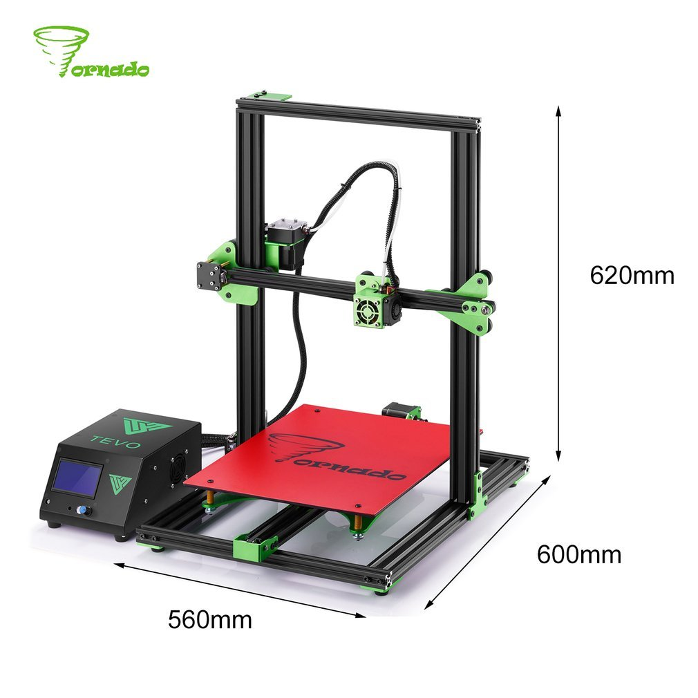 tevo Tarántula estándar Impresora 3d grandes Impresión Tamaño 300 ...