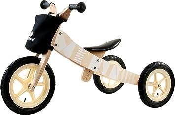 Sun Baby Triciclo Infantil Niña Chico Twist Samoa Transformable en Bicicleta sin Pedales Madera Blanco: Amazon.es: Juguetes y juegos