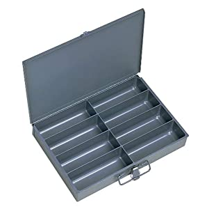 Durham 213-95-IND Gray Cold Rolled Steel Individual Small Scoop Box, 13-3/8