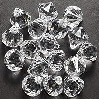 60 pequeños cristales transparentes como adornos de gota en forma de diamante
