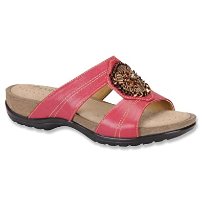 4568a8ed40 Amazon.com: softspots Mindy Slide Sandals, Berry, 6 W/D: Shoes