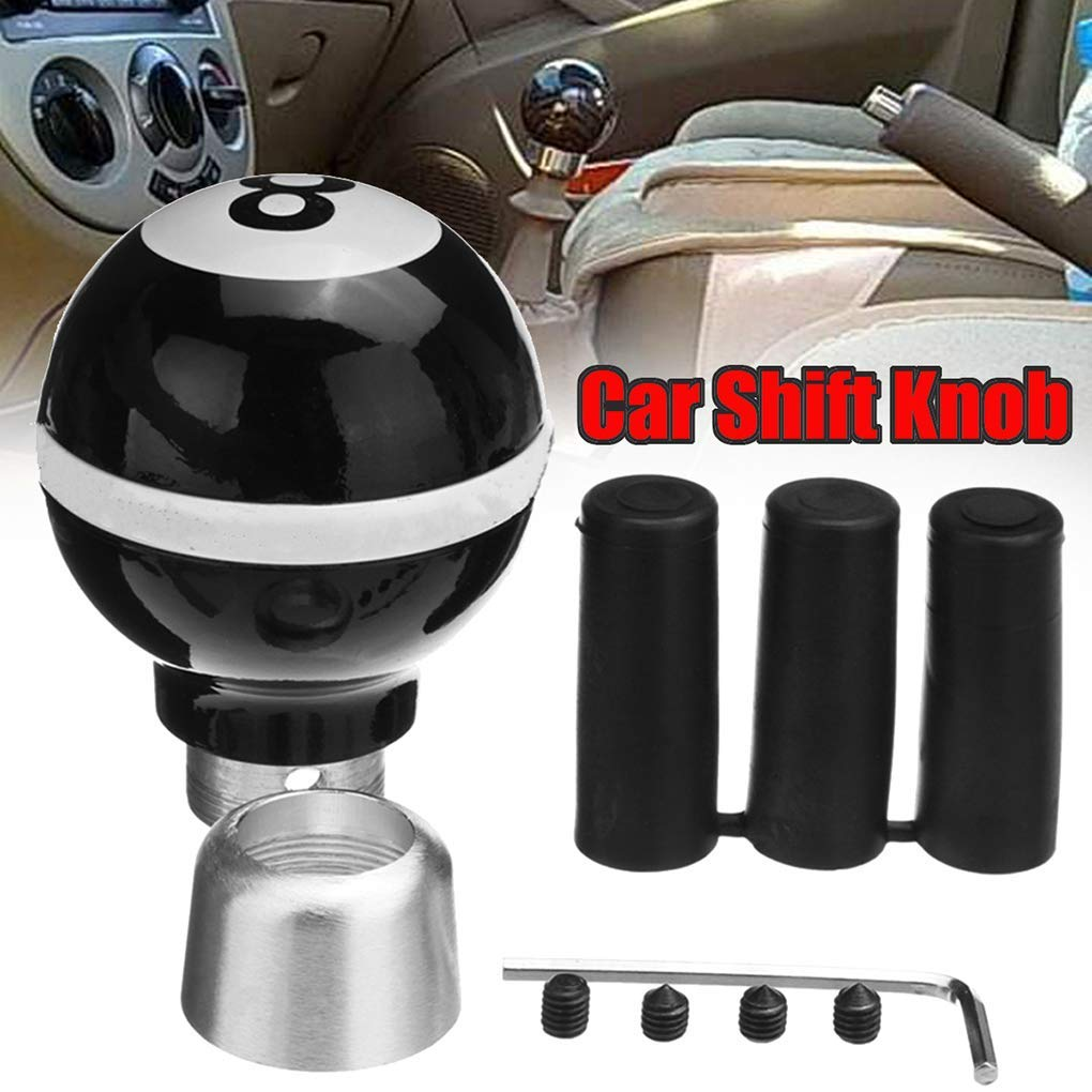 Car Gear Shift Resin Black Knob 8 Billiard Ball Shape Universal Manual Lever Stick Shifter Durable and Useful