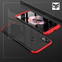 The GiftKart Full Body 3-In-1 Slim Fit 3D 360 Degree Protection Hybrid Hard Back Case Cover For Redmi Note 5 PRO (Black & Red)