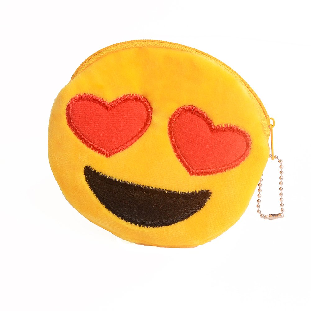 Amazon.com: Lindo Emoji cartera felpa suave pequeña bolsa ...