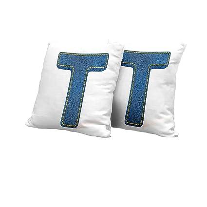 Amazon.com: car seat Cushion Cover Letter T,Alphabet Design ...
