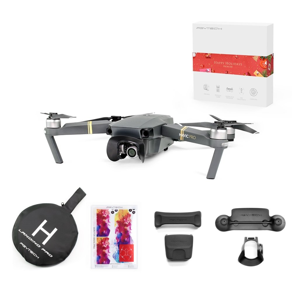 DJI Mavic Pro Portable Drones Quadcopter with Holiday Gift (Single Unit) by DJI