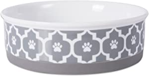 Bone Dry Lattice Collection Pet Bowl & Canister, Large Round - 7.5 x 7.5 x 2.4