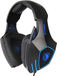 SADES Newly Updated Gaming Headset Headphones for Xbox One PS4 PC Mac ipad Laptop Computer