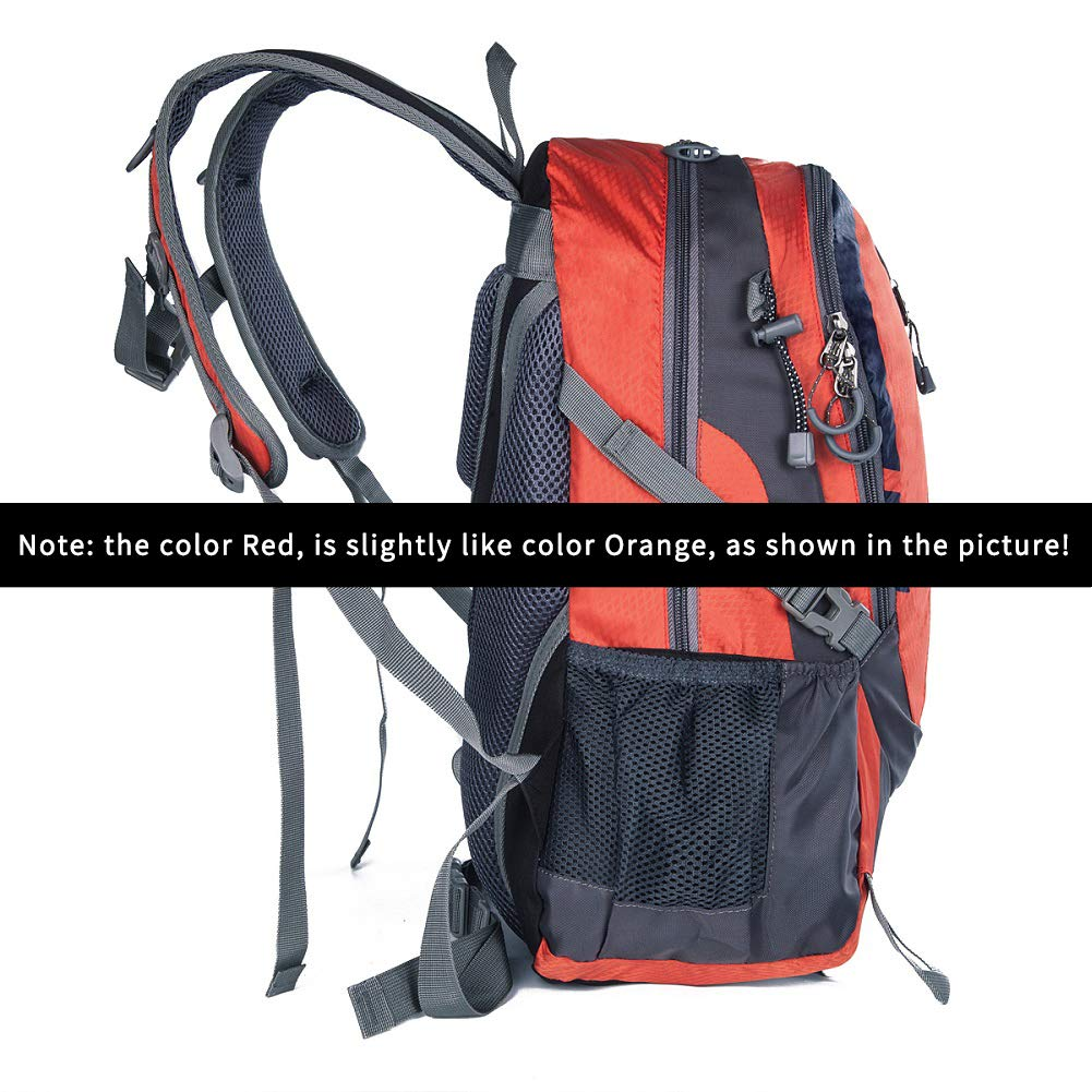 Daxvens Day Hiking Backpack with Chest Wasit Strap for Men Women Youth 25L Small Lightweight Water-Resistant Daypack Carry-On Camping Climbing Trekking Cycling Commuter